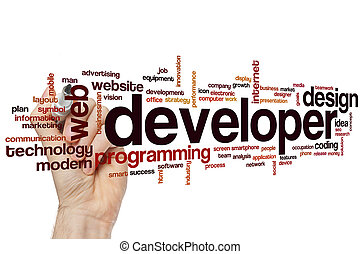 Developer word cloud concept