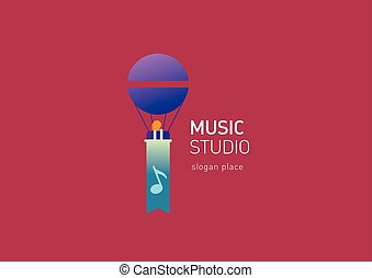 creative logo for the music studio