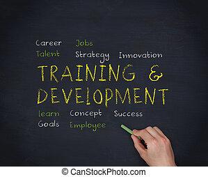 developme, entrenamiento, letra de mano