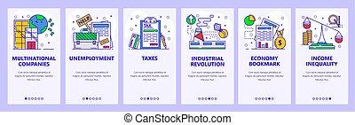 development., 失業, app, サイト, economy., onboarding, デザイン, 網,...