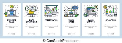 development., 芸術, app, 現代, サイト, スクリーン, onboarding, デザイン, 財政...