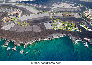 Development area on Big Island, Hawaii