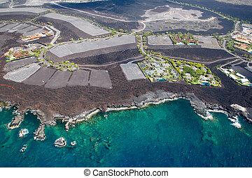 Development area on Big Island, Hawaii