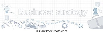 Development Business Strategy Concept Project Planning Banner