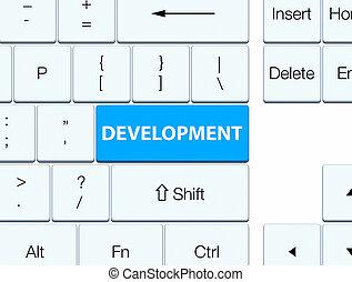 Development cyan blue keyboard button