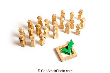 development., démocratique, society., gens, force., droit, ou, politique, manipulation, décision, populisme, correct, soutien, fera campagne, choix, majorité, electorate., élections