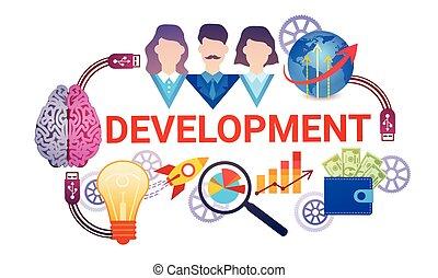 Development Effective Planning Strategy Business Web Banner