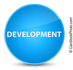 Development elegant cyan blue round button