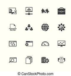 Development - Flat Vector Icons