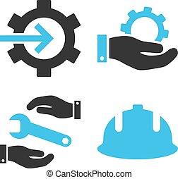 Development Flat Vector Icons