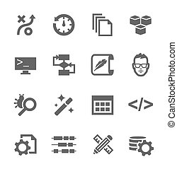 Development Icons - Simple set of development related vector...