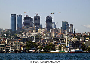Development in growing Istanbul, Turkey