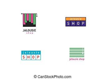 Development jalousie store logos series