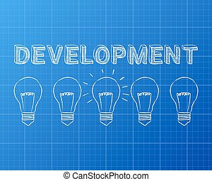 Personal development light bulb blueprint hand drawn personal development light bulbs blueprint malvernweather Choice Image