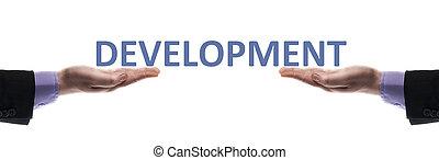 Development message in male hands