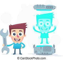development of 3D holographic printer