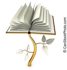Development of Education. Open white book. Conceptual...