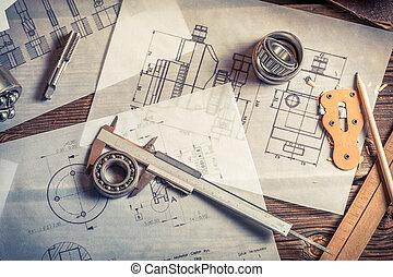 Development of mechanical schemes based on measurements