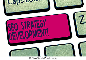 development., processus, photo, clavier ordinateur, seo, message, écriture, organiser, créer, stratégie, contenu, intention, texte, conceptuel, site web, business, projection, main, clã©, idea., s