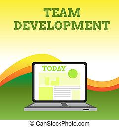 development., search., cambiado, foto, computador portatil, moderno, señal, aprender, pantalla, abierto, tela, cómo, texto, conceptual, página principal, encima, sitio web, actuación, equipo, grupos, por qué, cambio, gráficos, tiempo, pequeño