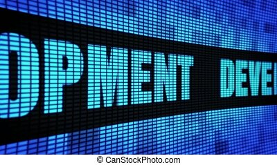 Development Side Text Scrolling LED Wall Pannel Display Sign Board