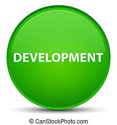 Development special green round button