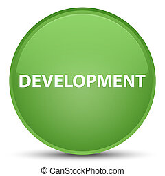 Development special soft green round button