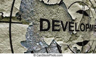 Development text on target
