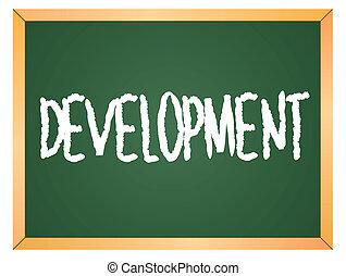 development word on chalkboard