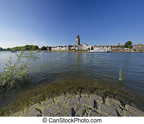 Deventer, Netherlands - wide angle view on Deventer,...