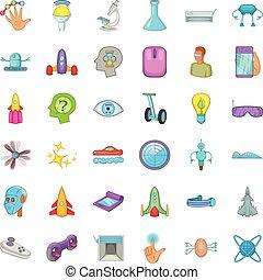 Device icons set, cartoon style