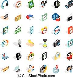 Device icons set, isometric style