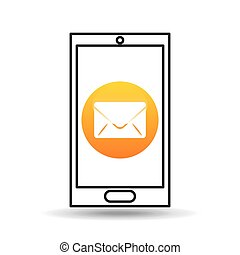 device mobile icon email message social media graphic