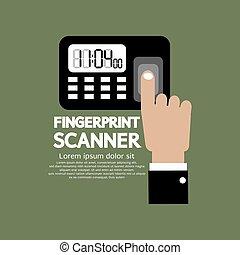 device., scanner, fingerabdruck