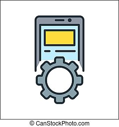 device setting icon color