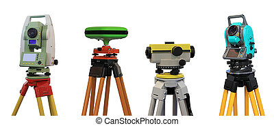 Devices for a geodesy - Collection of devices for a geodesy...