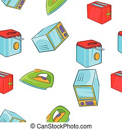 Devices for home pattern, cartoon style