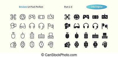 Devices UI Pixel Perfect Well-crafted Vector Thin Line And Solid Icons 30 2x Grid for Web Graphics and Apps. Simple Minimal Pictogram Part 2-3