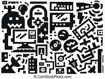 devices - vector background