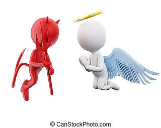 devil., 天使, 3d