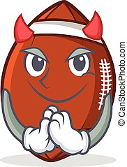 Devil American football character cartoon