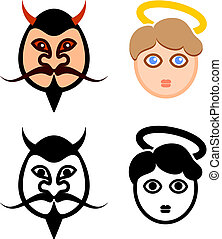 Devil and Angel Faces