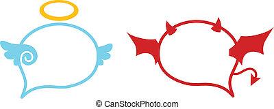 Devil Angel Ballon - Angle - Devil Speech Balloon