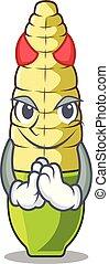Devil baby corn cartoon in the fridge