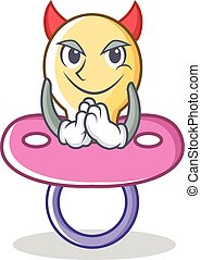 Devil baby pacifier character cartoon