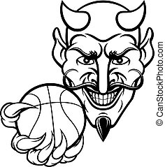 Devil Basketball Sports Mascot
