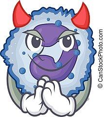 Devil basophil cell Cartoon in character design. Vector ...