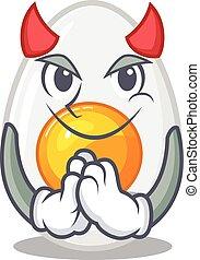 Devil boiled egg Cartoon in character design