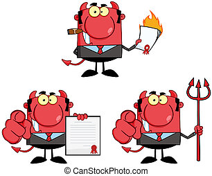Devil Boss. Collection - Devil Boss Cartoon Characters. ...