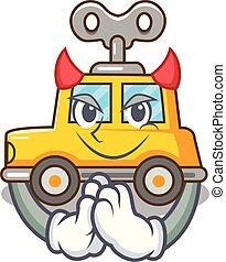 Devil cartoon clockwork toy car for gift